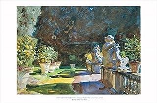 Buyartforless Villa Di Marlia, Lucca, 1910 by John Singer Sargent 24x36 Art Print Poster Famous Painting Figurative Statue...