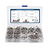 200Pcs 304 Stainless Steel Hose Tubing Spring Clips Quick Fitting Hose Water Pipe Tubing Spring Clamps...