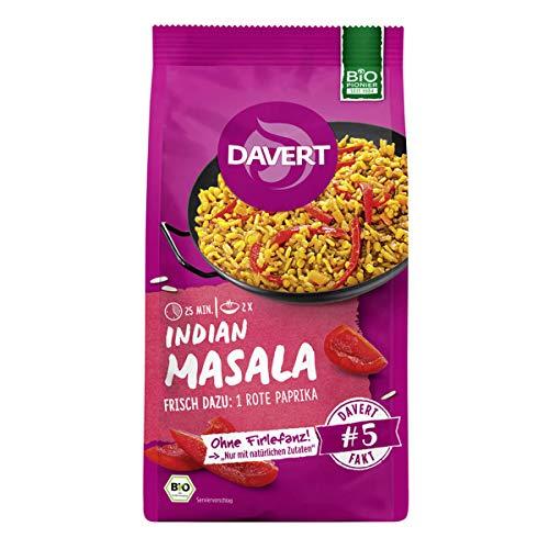 Davert - Indian Masala mit Basmati Reis - 170 g - 6er Pack