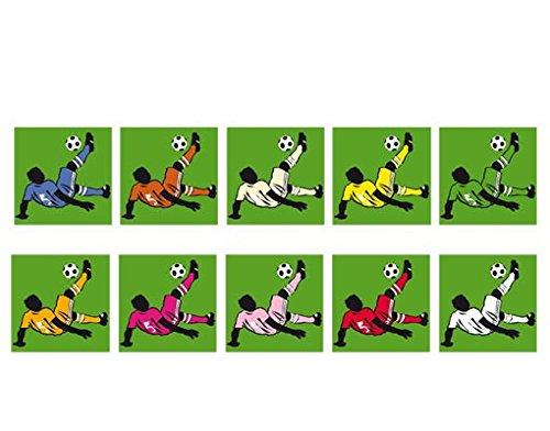 Fensterbild No.UL879 Fallrückzieher Fußball Weltmeisterschaft Fussball Spiel Fenstersticker Fensterfolie Fensteraufkleber Fenstertattoo Glas-Sticker Fensterdeko Fensterdekoration Farbe: Rot; Größe: 54cm x 54cm