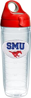Tervis Smu Mustangs Logo Insulated Tumbler with Emblem and Red with Gray Lid, 24oz Water Bottle, Clear