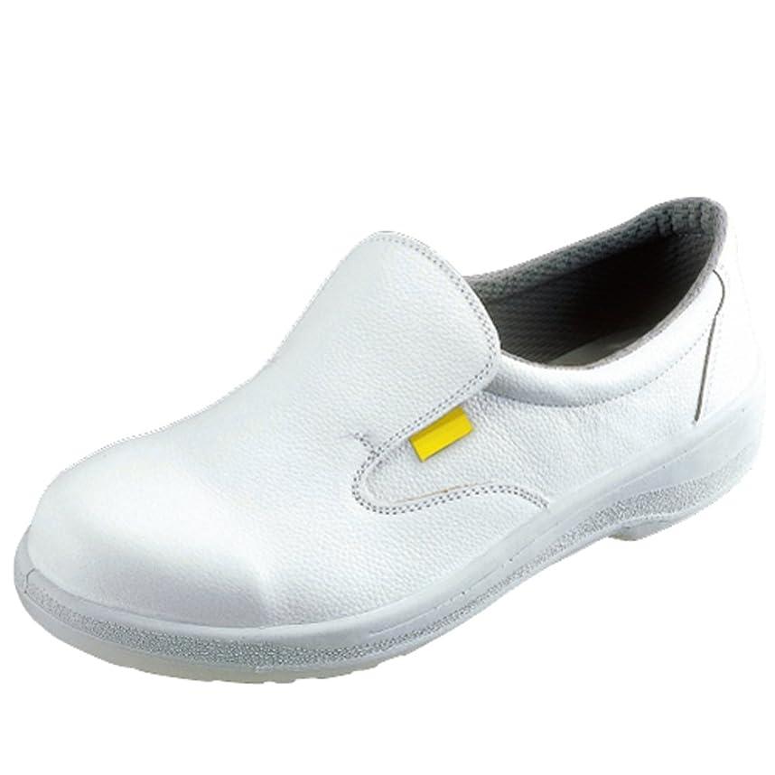 同志イディオムロイヤリティ【7517白】静電靴 人体に帯電した静電気を、靴底を通して常に接地面にアースすることで除電する安全靴  甲被に牛革を使用した耐久性に優れたタイプ