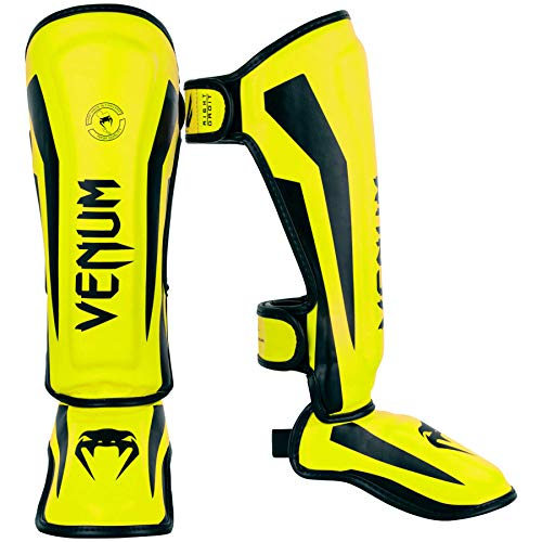 Venum Elite Kinder Schienbeinschoner M Neon/Gelb