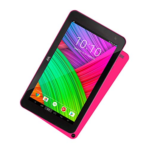 Woxter X-70 17,8 cm (7 Zoll) Tablet-PC (HD, Quad Core Cortex A35, 1.3 GHZ, microHDMI, Android 9.0, Bluetooth, WLAN, 16 GB + Micro-SD) pink