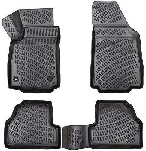 Design 3D Gummimatten Set für OPEL Mokka / Mokka (X) ab 2012 | Extra hoher 5cm Rand