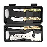 GVDV Hunting Knife Kit - Field Dressing Gear Accessories Set for Men, Butcher Game Processing for Deer Hunting, Fishing, Camping, 6 Pieces