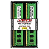 A-Tech 8GB (2 x 4GB) DDR3 1333MHz PC3-10600 Desktop RAM Kit | Non-ECC Unbuffered DIMM 240-Pin Memory Upgrade Modules