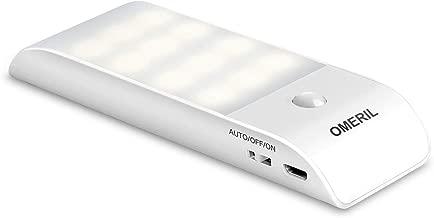Luce Notte LED, OMERIL USB Ricaricabile Luce Armadio con Sensore di Movimento e Luce, 3 Modalità di Illuminazione, Luce Notte con Striscia Magnetica Adesiva per Armadio, Corridoio, Cucina, Scale, Car