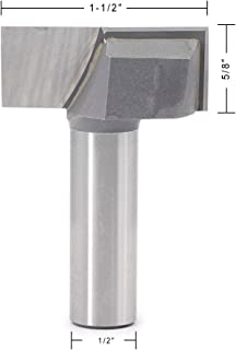 Cleaning Bottom Router Bits JESTUOUS 1/2 Inch Shank Diameter 1-1/2 Cutting Diameter 2 Flute Tipped Carbide Cutter Up Shear Flat Spoilboard Surfacing Planing Tool