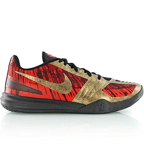 Nike KB Mentality, Zapatillas de Baloncesto Hombre, (Rojo/Dorado), 40 1/2