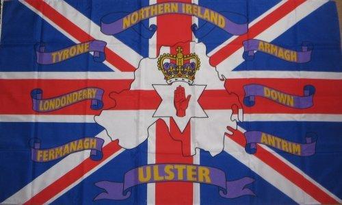 Noord-Ierland Union Jack Kaart 6 provincies 3'x2' Vlag