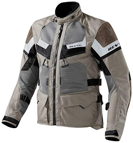 Revit Motorradjacke Cayenne Pro, Farbe Sand-schwarz, Größe XL