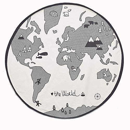 Amazing Deal ZTBXQ Leisure and Entertainment 53 Inches Adventure World Map Pattern Baby Crawling Mat...