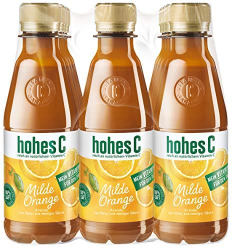 hohes C Milde Orange - 100% Saft PET, 12er Pack (12 x 250 ml)