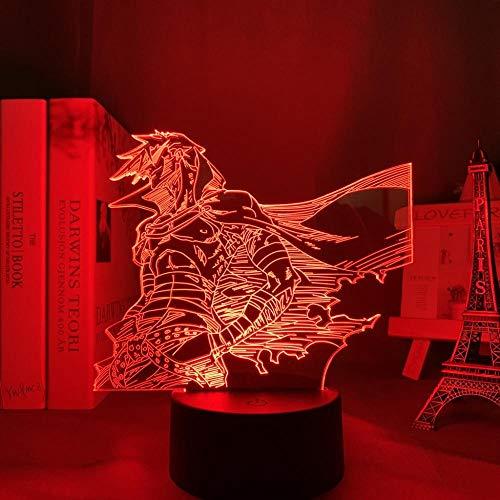 DAJIE Anime Gurren Lagann Kamina - Lámpara de noche LED para decoración de habitaciones, regalo de cumpleaños, lámpara de noche para chimenea, accesorio de guirnaldas