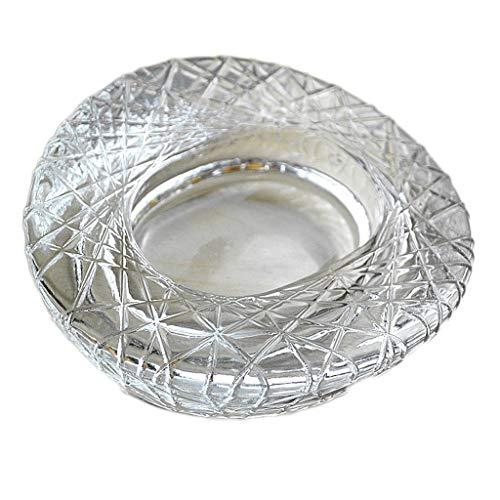 Cenicero Cenicero De Cigarrillos Cenicero de cristal con bandeja Originalidad Moderna Simple Mesa de té for el hogar Nido de pájaro Forma Grande Decorativa Cenicero para puros para uso en interiores o
