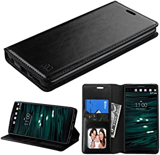 Wydan Case for LG V10, G4 Pro - Credit Card Leather Wallet Style Cover - Black