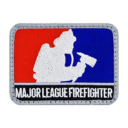 Café Viereck ® Major League Firefighter Feuerwehr Fun Patch Gestickt mit Klett - 8 x 6 cm
