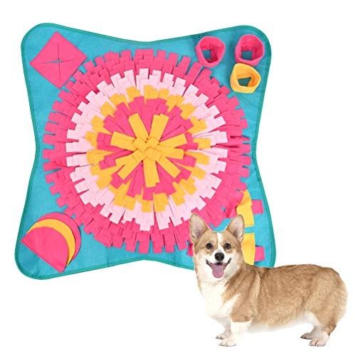FOCCTS Alfombra Olfato Perro Mascotas - Pet Snuffle Mat Plegable Juguete de Inteligencia para Entrenamiento