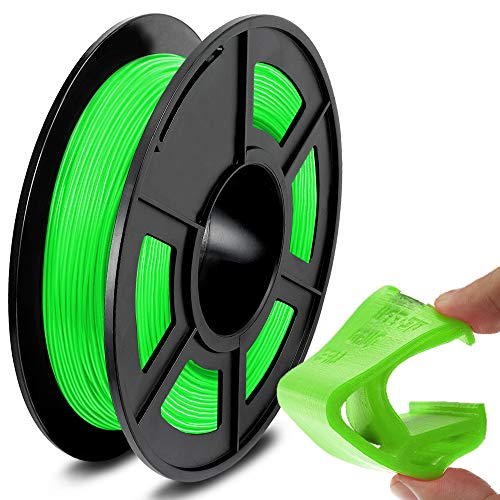 SUNLU TPU Flexible Filament 1.75mm for 3D Printer 500g/Spool Dimensional Accuracy +/-0.03mm, Green