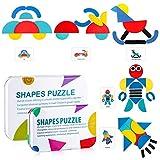 Tangram de Madera swonuk Puzzles de Madera Bloques Animal Educativos Montessori Juguetes para Niños ...