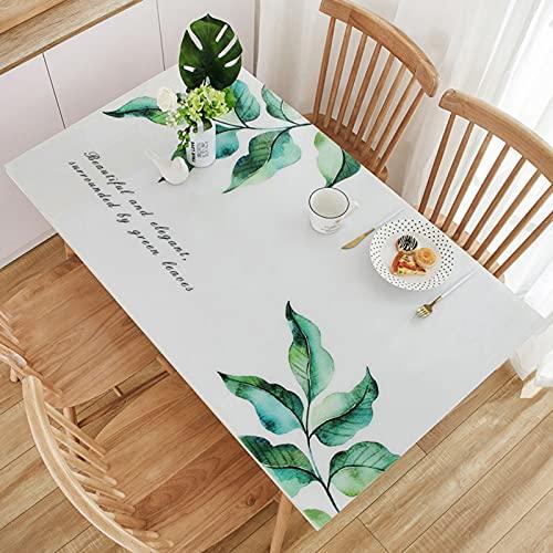 LTLGHY PVC Toalhas De Mesa, Impermeáveis Toalhas De Mesa Anti-Manchas, Toalha De Mesa Retangular para Sala De Jantar Cozinha,a,90x150cm