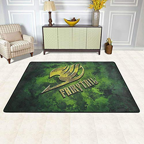 Lee My Tapis Canapé de Salon D'animation Fairy Tail Guild Sign Splash Art -Multi-Tailles Multi Modèle en Option Tapis,B,140x200cm/55.1x78.7in
