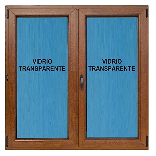 ECO-BLU Ventana pvc 1000x1000 mm oscilobatiente Roble Dorado 2h