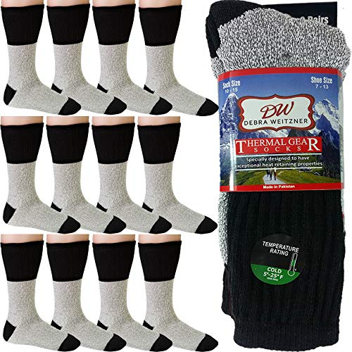 Thermal Insulated Boot Socks for Men and Women 12 Pair Ultra Warm Thick Winter Socks Debra Weitzner
