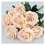 MQH Flor Artificial Artificial 1 Bunch French Rose Floral Bouquet Fake Flower Organice Table Daisy Boda Flores Decoración Accesorio de Fiesta Decoración (Color : Champange)