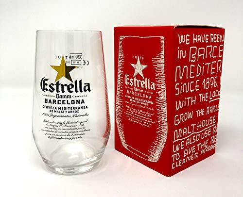 GarageBar Estrella - Vaso de cerveza (330 ml/33 cl)