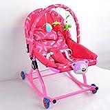 Liegestühle Beruhigende Vibrationen Kinder Liegen Bett Baby Schaukelstuhl Baby Artefakt Baby Schlafwiege Dual-Use-Balance Kinderwagen Kinderliege,RedB