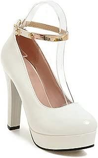 BalaMasa Womens Casual Travel Platform Urethane Pumps Shoes APL10618
