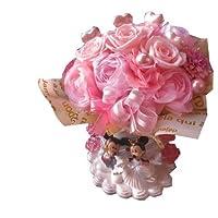 結婚祝い ミッキー ミニー 花束風 プリザーブドフラワー ウェディング ピンク系 ケース付