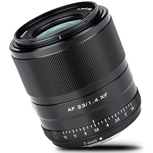 Viltrox Autofokus Lens AF 23mm f1.4 XF STM APS-C Objektiv schwarz mit großer Blende kompatible für Fujifilm X-Mount Kamera X-S10 X-T4 X-T3 X-T30 X-T200 X-PRO3 X-H1 X-M1 X-A7 X-E3