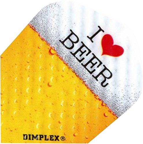 Only Swim Harrows Dimplex Square Big Wing Dart Aiming I Love Beer Flights, 10 Stück