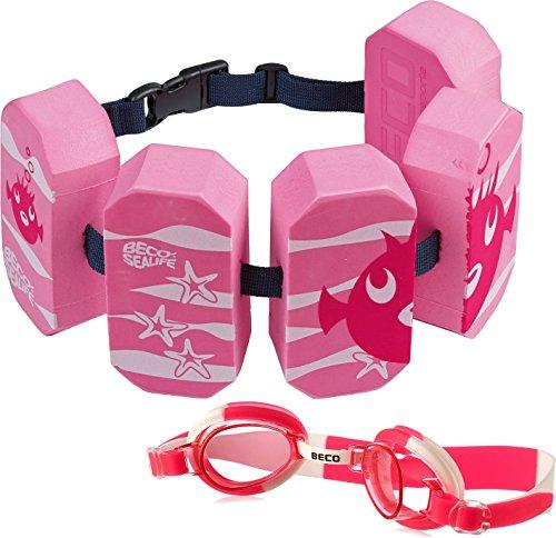 Beco 96071 4 - Schwimmgürtel Sealife, für 2-6 Jahre, 15-30 kg + Schwimmbrille Pink