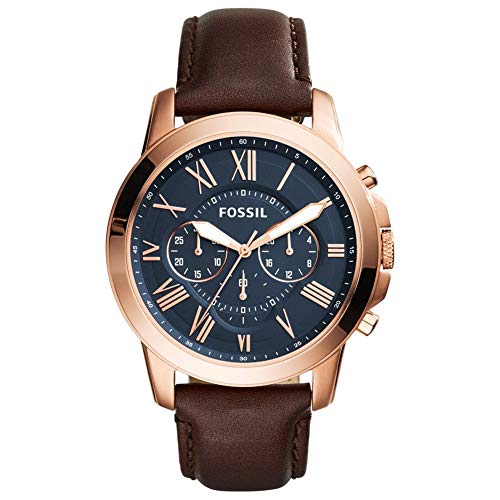 Fossil FS5068IE Grant Chronograph Uhr Herrenuhr vergoldet 5 bar Analog Braun