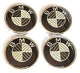 SMP] 4X 68mm Carbon Nabenkappen für BMW, Felgendeckel, Nabendeckel, Nabenabdeckungen, Nabenkappe, Radnabendeckel, Radnabenabdeckung, Felgenkappen, Centercaps, Centre hub caps, 36136783536
