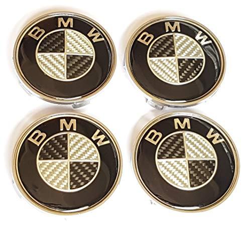 SMP 4X 68mm Carbon Nabenkappen für BMW! Felgendeckel, Nabendeckel, Nabenabdeckungen, Nabenkappe, Radnabendeckel,...