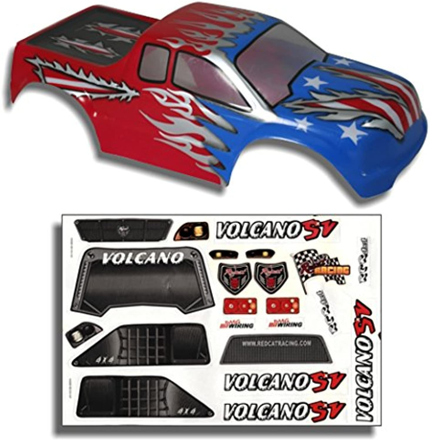Redcat Racing Truck Body Red, White, and bluee (1 10 Scale)