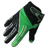 Qtech - Kinder Motocross-Handschuhe - Grün - XS (ca. 10-12 Jahre