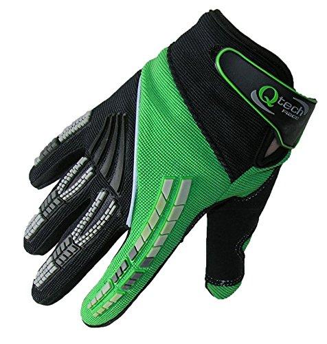 Qtech - Kinder Motocross-Handschuhe - Grün - XXS (ca. 6-9 Jahre