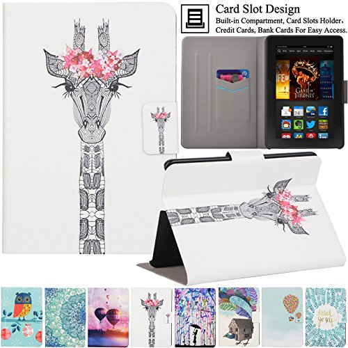 Kindle Fire HDX7 Case, Artyond Ultra Lightweight PU Leather Case Flip Stand Magnet [Auto Wake/Sleep Feature] Protect Slim Folio [Cards Slots] Smart...