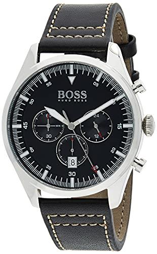Hugo BOSS Reloj Analógico para Hombre de Cuarzo con Correa en Cuero 1513708