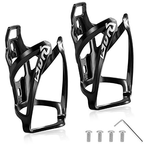 m wave bicycle water bottle holders Water Bottle Cages - Lightweight PC Water Bottle Holder for Bike - 2 Pack Bicycle Water Bottle Holder Cages Brackets - Bicycle Water Bottle Mount w/ 4 Screws and Allen Wrench for MTB Bike, Road Bike