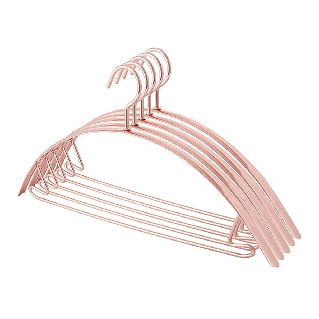 レース寛解詳細なハンガーアルミ合金42 cm 10pcsプレミアムストロングメタルハンガー防風ハングフック省スペース (Color : A)