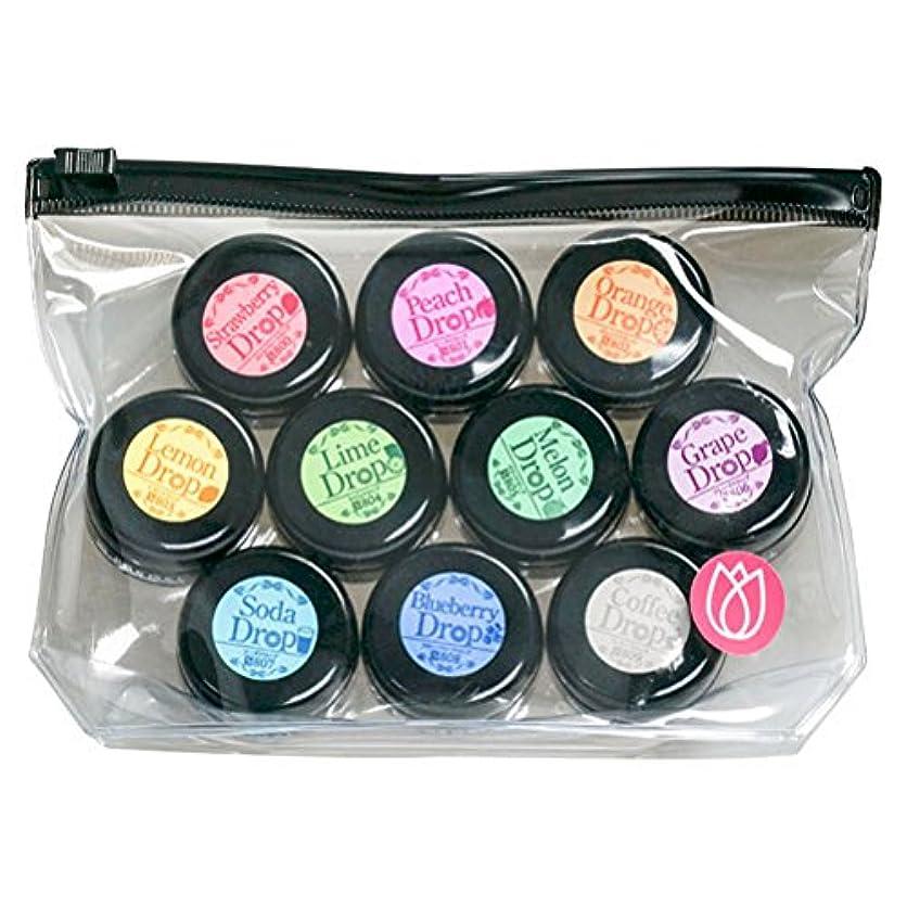 店主ラビリンス祈るプリジェル ジェルネイル スーパーカラーEXドロップシリーズ10色セット UV/LED対応 3g×10色