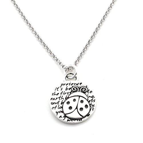 292545eb6 Kevin N Anna Ladybug (Presence Quote) Sterling Silver Small Pendant Necklace,  18