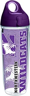 Tervis 1229691 Northwestern Wildcats College Pride Tumbler with Wrap and Purple Lid 24oz Water Bottle,  Clear